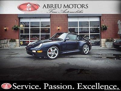 Porsche : 911 Turbo Sport Seats! Rare 1996 Low-Mileage, Midnight Blue 993 Turbo - 33,172 Original -