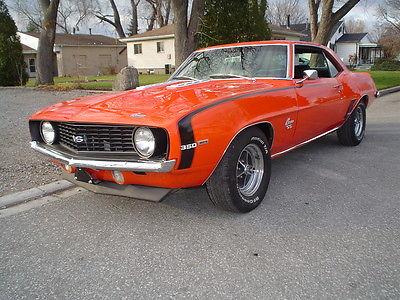 Chevrolet : Camaro SS 350 X-11 1969 camaro ss 350 factory ac 12 bolt power disc brakes nice