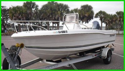 2008 Clearwater 1900 CC YAMAHA 115 4 Stroke Low Hours Like New Alum TRLR
