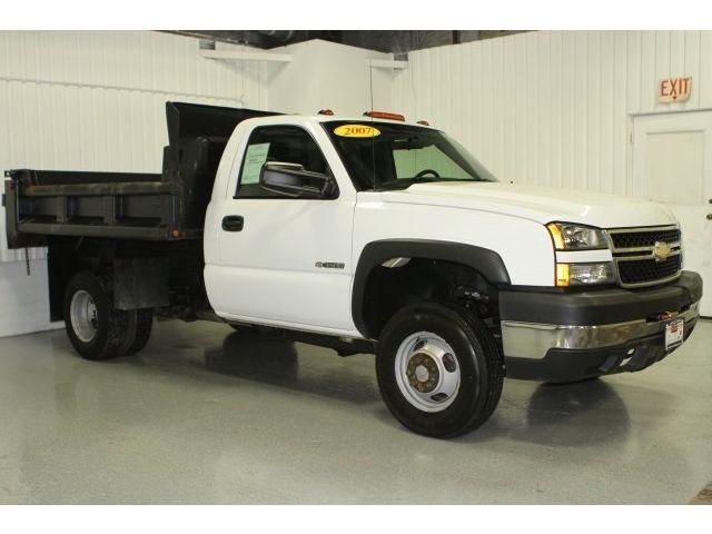 Chevrolet : Silverado 3500 Work Truck Used 07 Chevy K3500HD Dump Truck 4x4 Reg Cab Dually 6.0L V8 Low Miles Work Auto