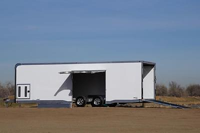 IN STOCK 8.5 X 28 Aluminum ATC CH305 Enclosed Carhauler Cargo Trailer: VIDEO