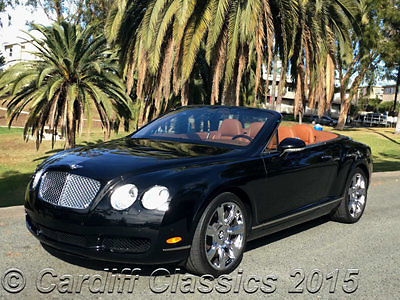 Bentley : Continental GT GT-C 07 continental gtc black saddle 24 k orig miles 1 owner clean carfax california