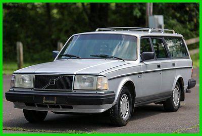 Volvo : 240 DL 1990 volvo 240 wagon blue leather interior low 116 k mi carfax
