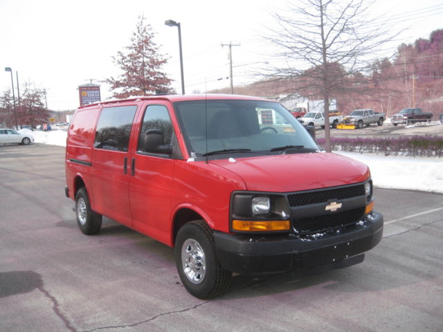 Chevrolet : Express RWD 3500 135 2012 chevy g 3500 1 ton cargo van 105 k 1 owner clean car fax alum bin cage