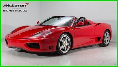 Ferrari : 360 Spider 2003 ferrari 360 spider daytona seats challenge style grid and grilles