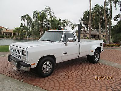 Dodge: Ram 3500 Dually 1993 dodge ram d 350 cummins 12 valve dually arizona beast must see pics vids