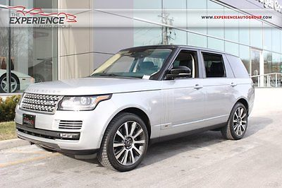 Land Rover : Range Rover Supercharged Autobiography LWB V8 Rear Entertainment Tow Massage Memory Climate Meridian Adaptive Blind Spot