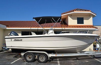 2003 Angler 220 Center Console Boat Yamaha 200hp outboard