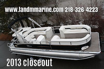 close out. --New triple tube  24 ft pontoon boat with hpp tubes