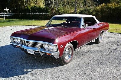 Chevrolet: Impala convertible Z24 1967 ss 427 convertible impala 4 speed rotisserie restored best of the best z 24