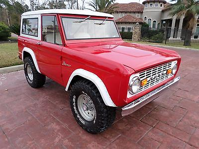 Ford : Bronco FREE SHIPPING! 302 v 8 3 speed 4 x 4 roll bar recent restore removable top great driver