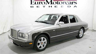 Bentley: Arnage bentley arnage sedan silver brown red leather navigation low miles financing md