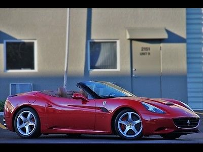 Ferrari : California RED TAN ONLY 21K MILES *$1,094.00 A MONTH 2011 SHIELDS DIAMOND SEATS $45KOPTIONS