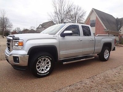GMC: Sierra 1500 SLE Double Cab Z71 4X4 ARKANSAS-OWNED, NONSMOKER, Z71 4X4, HEATED LEATHER, REAR CAMERA, PERFECT CARFAX!
