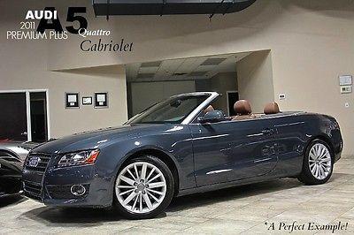 Audi : Cabriolet 2dr Convertible 2011 audi a 5 2.0 t quattro cabriolet msrp 54 k premium plus model mmi navigation