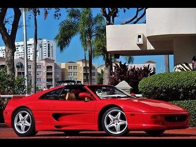 Ferrari : 355 GTS 6 Speed Manual Transmission Targa RED TAN ONLY 21K MILES *$1,177.00 A MONTH 1998 6SP MANUAL STICK SERVICE RECORDS