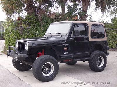 Jeep: Wrangler Sahara 1999 jeep wrangler sahara 4.0 l inline six 5 spd manual 4 x 4 hardtop skyjacker tj