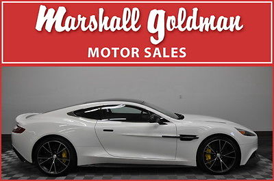 Aston Martin : Vanquish Base Coupe 2-Door 2014 aston martin vanquish stratus white obsidian black leather carbon 740 miles