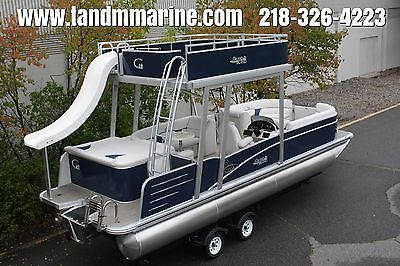 Special---New  25 ft pontoon boat with slide