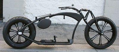 Custom Built Motorcycles : Bobber MMW SCHWINN STYLE BEACH CRUISER  , 200 REAR , 23 FRONT , GIRDER  FRONT FORKS