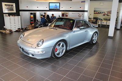 Porsche : 911 Turbo Coupe 2-Door 1996 porsche 911 twin turbo polar silver on flaminco red 71 k mi 15 k service