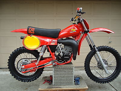 Honda : CR Honda 1980 CR125 CR 125 CR125r race bike elsinore fox ahrma racer restored mint
