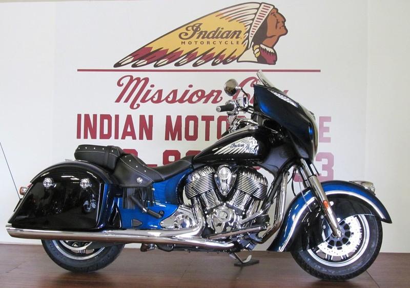 2016 Indian Chieftain Custom Paint Big Blue Pearl An