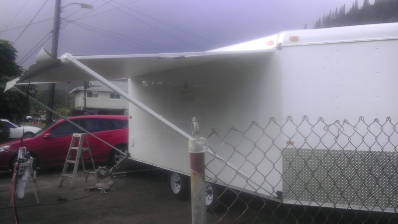 trailer with awning
