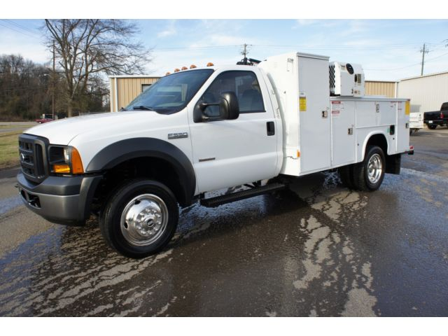 Ford : Other Pickups 2WD Reg Cab 2007 ford f 550 powerstroke diesel palfinger crane imt air compressor utility