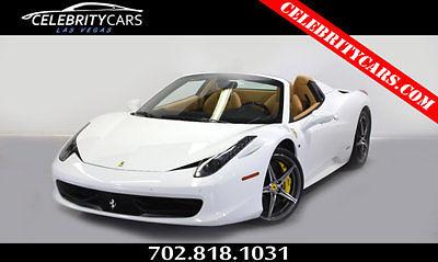 Ferrari : 458 2dr Convertible 2015 ferrari 458 spider only 88 miles las vegas 1 owner clean white