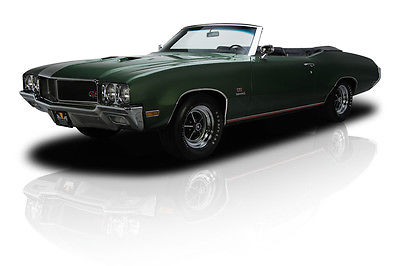 Buick : Other GS Stage 1 Frame Off Restored Numbers Matching GS455 Convertible Stage 1 455 V8 4 Speed