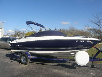 2010 Monterey Boats Used Blue & White 194 FS Bow Rider 4.3 MPI Custom Trailer