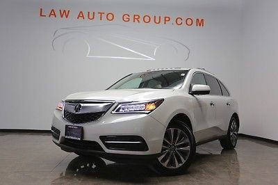 Acura : MDX SH-AWD TECH PACKAGE 4DR SUV White Diamond Pearl Blind Spot Assist 1 Owner