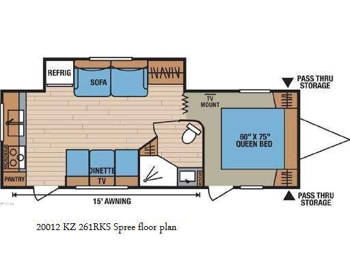 2012 K-Z Manufacturing Spree 261RKS