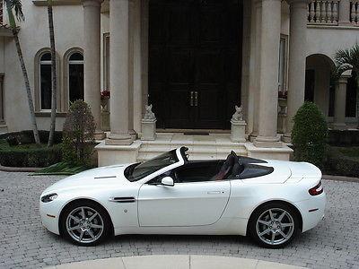 Aston Martin : Vantage Roadster FLORIDA, ROADSTER,RARE WHITE/RED, 140K MSRP, L@@K