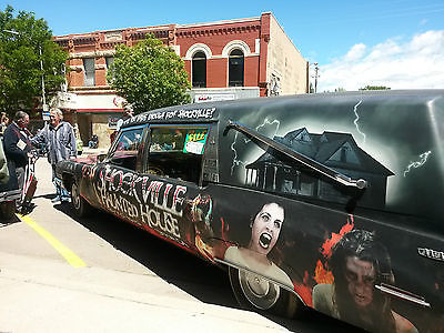 Cadillac : Other M & M 100th Anniversary Model Hearse awesome Hearse-one of a kind 1971 Cadillac with Vanpires, Gouls, Goblins, Zombie