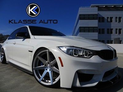 BMW : M3 Show Car 2015 bmw m 3 show car 6 speed manual sedan air x suspension stereo must see