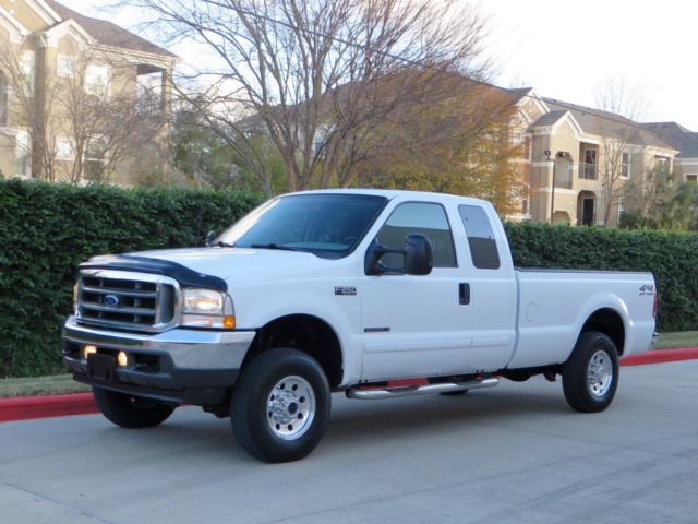 Ford : F-250 4x4 DIESEL! 1 owner ext cab lwb 7.3 l 4 x 4 6 speed manual rare low miles very clean tx truck