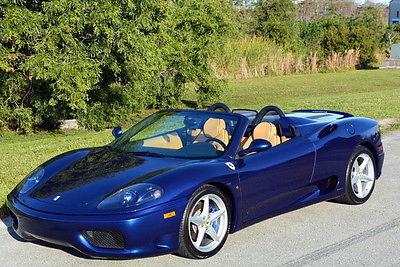Ferrari : 360 Spider 2002 ferrari 360 modena spider f 1 tdf blue 15 k miles