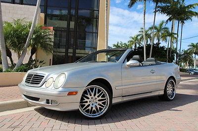 Mercedes-Benz : CLK-Class Base Convertible 2-Door 2000 mercedes benz clk 320 hid lights htd seats florida car clean carfax