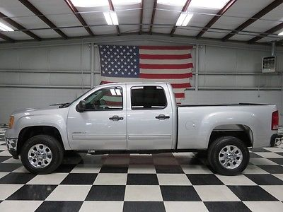 GMC : Sierra 2500 SLE 4x4 Z71 Gas 1 owner silver crew cab 6.0 l gas warranty financing leather chrome 18 s low miles