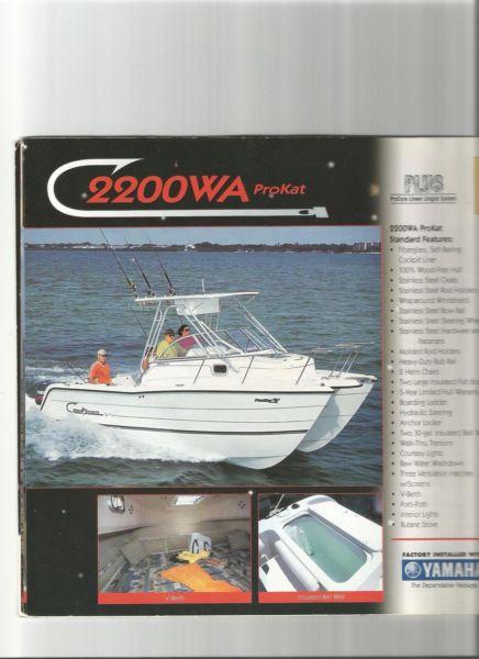2001 22' Prosport Catamaran
