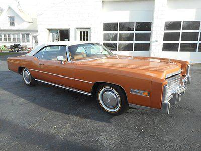 Cadillac : Eldorado 2 DOOR CONVERTIBLE  Original 19K Mile Cadillac Eldorado Convertible STUNNING! LOADED Mandarin Orange