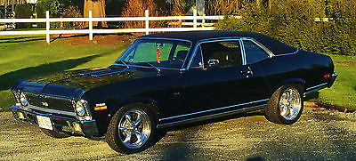 Chevrolet : Nova 1972 nova done as a 1970 ss 396 clone l 78 rotissarie restoration black perfect