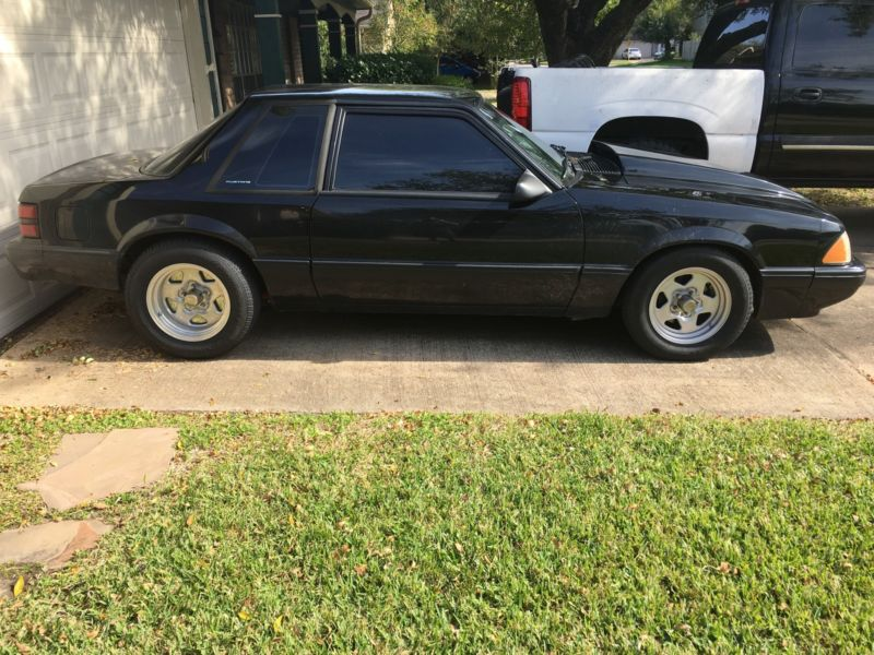 1989 Black Ford Mustang Coupe Notchback $13000 OBO