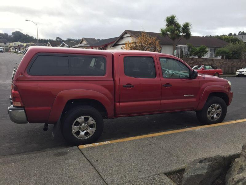 Toyota Tacoma V6 SRS red