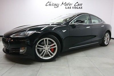 Tesla: Model S 4dr Sedan 2014 tesla model s performance p 85 sedan msrp 111 k tech pkg all glass sunroof