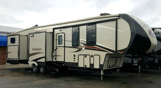 New 2016 Forest River RV Sandpiper 381RBOK with Lifetime Warranty