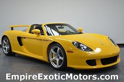 2004 Porsche Carrera GT Number 0269 Carrera GT Yellow with 6,011 Miles! 2004 Porsche Number 0269 Carrera GT Yellow with 6,011 Miles!