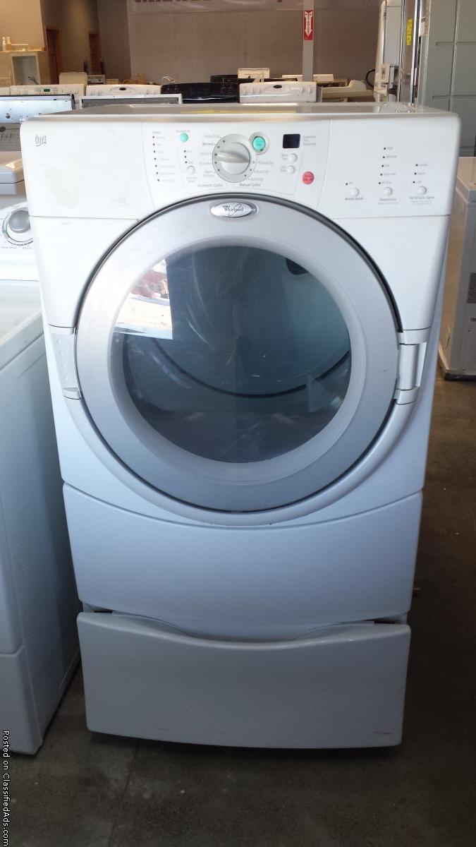 Whirlpool Duet Gas Dryer W/Pedestal